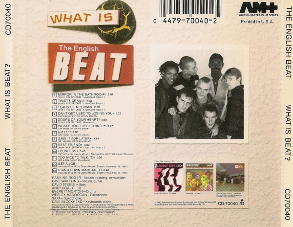 Beat, The (2) - What Is Beat? cover of release
