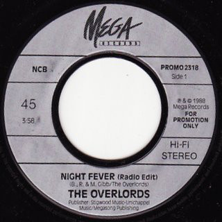 Overlords, The - Night Fever cover of release