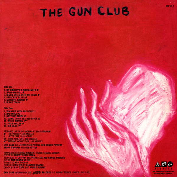 Gun Club, The - The Birth, The Death, The Ghost cover of release