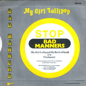Bad Manners - My Girl Lollipop