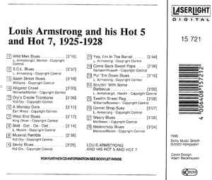 Louis Armstrong & His Hot Five - Louis Armstrong And His Hot Five & Hot Seven (1925-28)