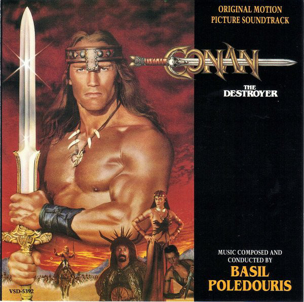 Basil Poledouris - Conan The Destroyer - Original Motion Picture Soundtrack cover of release
