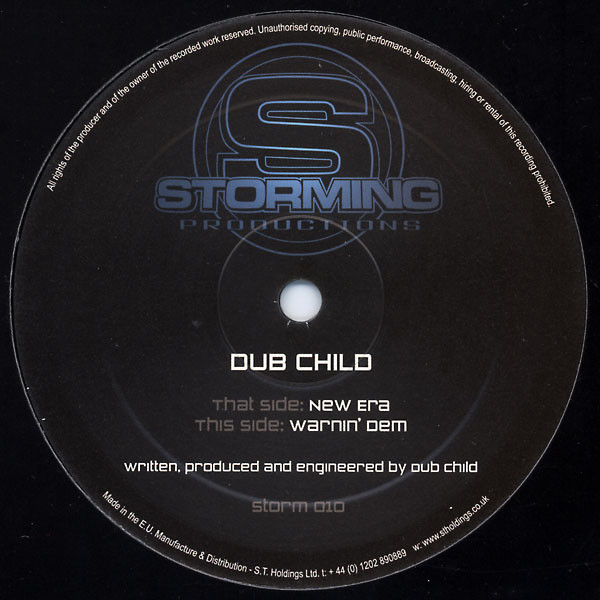 Dub Child (2) - New Era / Warnin' Dem cover of release