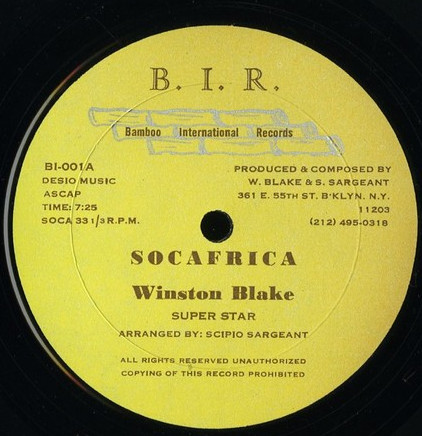 Winston Blake - Socafrica cover of release