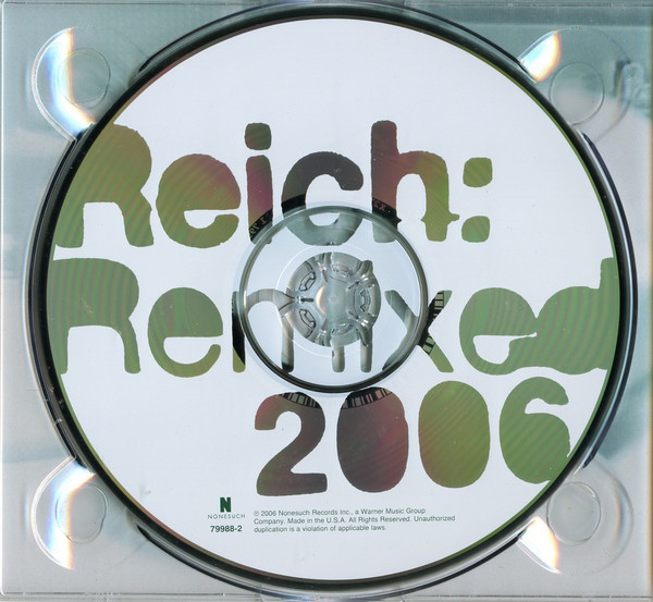 Steve Reich - Reich: Remixed 2006 cover of release