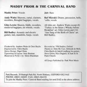 Maddy Prior & The Carnival Band - Carols & Capers
