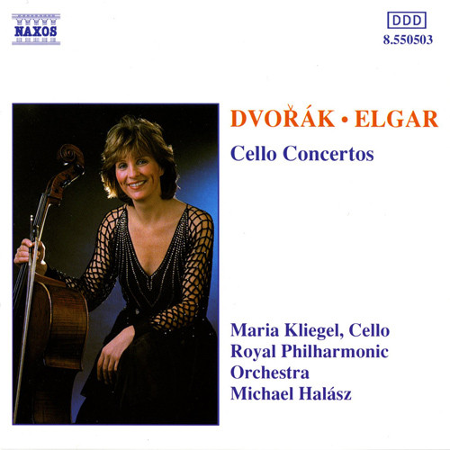 Antonín Dvořák, Sir Edward Elgar, Maria Kliegel, Royal Philharmonic Orchestra, The, Michael Halász - Cello Concertos cover of release
