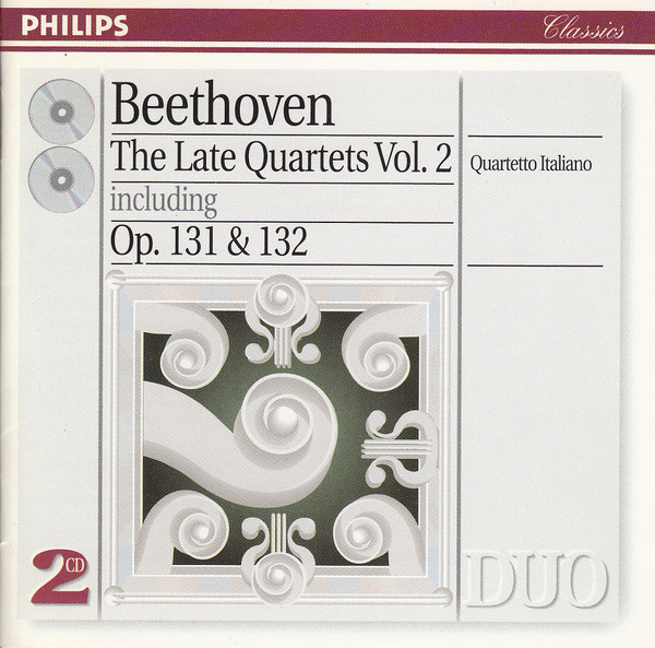 Ludwig van Beethoven, Quartetto Italiano - The Late Quartets Vol. II cover of release