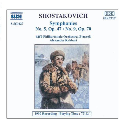Dmitri Shostakovich, Belgian Radio And Television Philharmonic Orchestra, Alexander Rahbari - Symphonies Nos. 5 And 9 cover of release