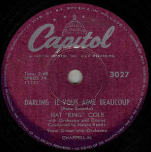 Nat King Cole - Darling Je Vous Aime Beaucoup