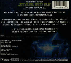 John Williams (4) - Star Wars: The Phantom Menace: The Ultimate Edition - Original Motion Picture Soundtrack