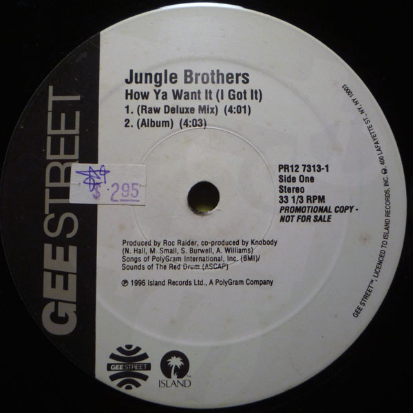Jungle Brothers - How Ya Want It (I Got It) cover of release