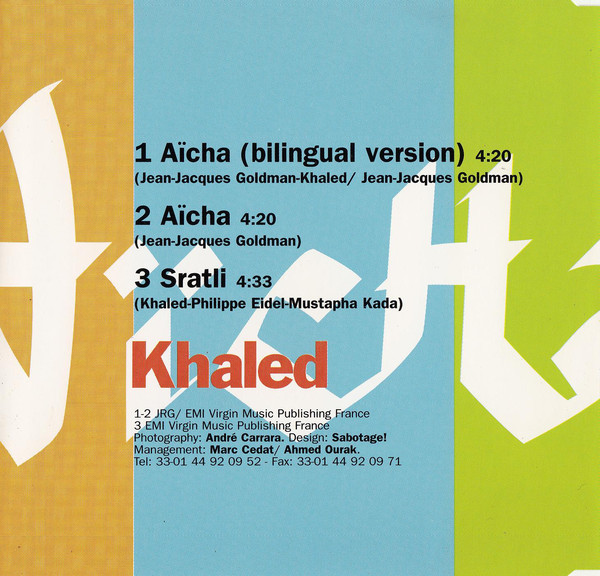 Khaled - Aïcha cover of release
