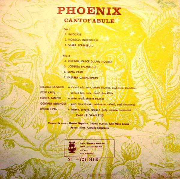 Phoenix (23) - Cantofabule cover of release