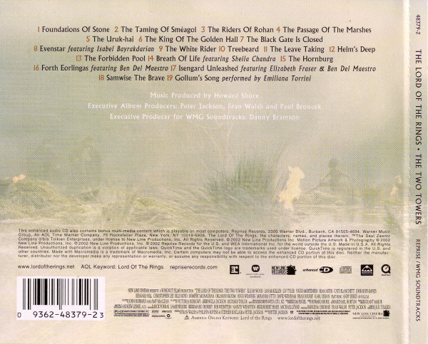 Howard Shore - The Lord Of  The Rings: The Two Towers (Original Motion Picture Soundtrack) cover of release