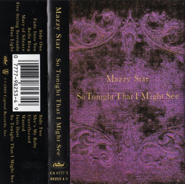 Mazzy Star - So Tonight That I Might See cover of release