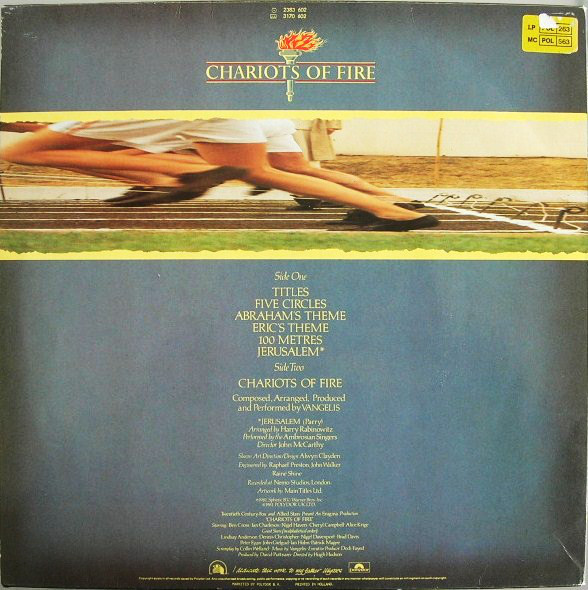 Vangelis - Chariots Of Fire cover of release