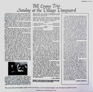 Bill Evans Trio, The - Sunday At The Village Vanguard