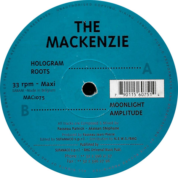 Mackenzie, The - Hologram cover of release